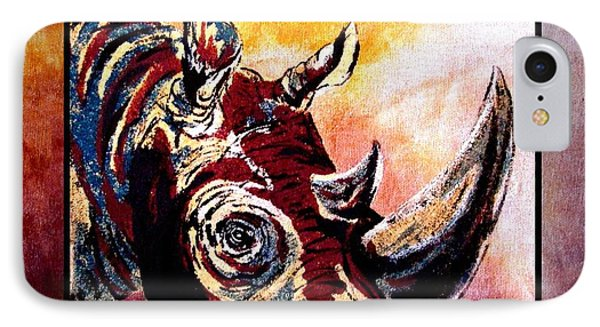 Save The Rhino Phone Case by Sylvie Heasman