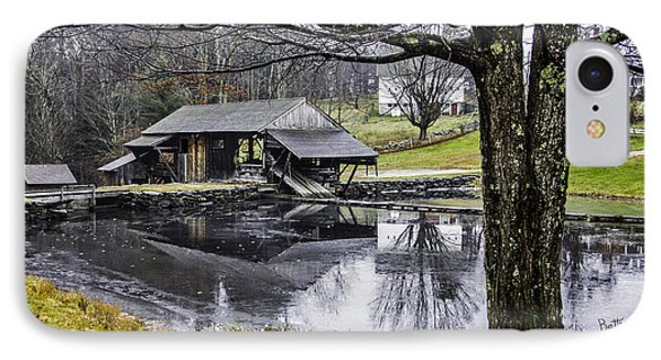 IPhone Case featuring the photograph Sawmill In Late Fall by Betty Denise