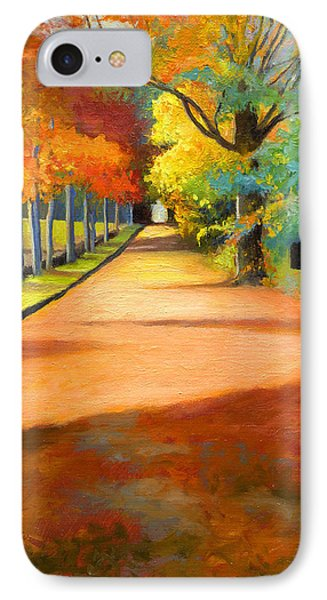 Sawmill Road Autumn Vermont Landscape IPhone Case by Catherine Twomey