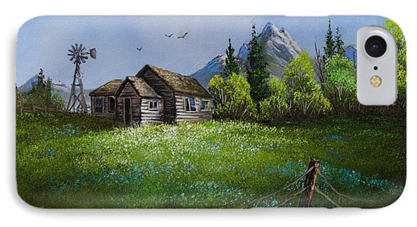Sawtooth Mountain Homestead Phone Case by C Steele