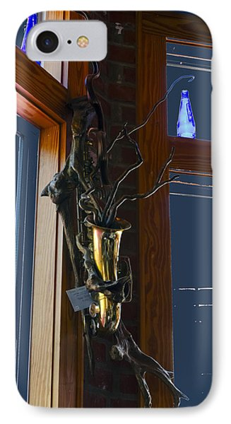 IPhone Case featuring the photograph Sax At The Full Moon Cafe by Greg Reed