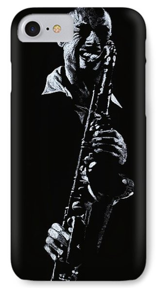 Sax Player Phone Case by Richard Young