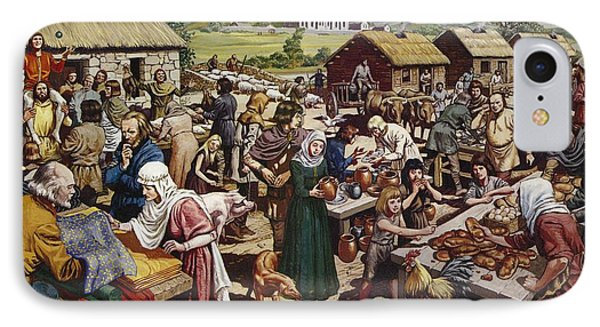 Saxon Village Fair Colour Litho IPhone Case by Mike White
