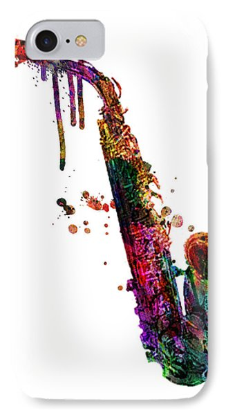 Saxophone 2 IPhone Case by Mark Ashkenazi