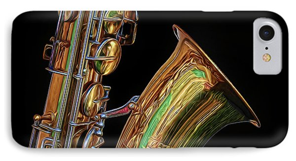 IPhone Case featuring the photograph Saxophone by Dave Mills