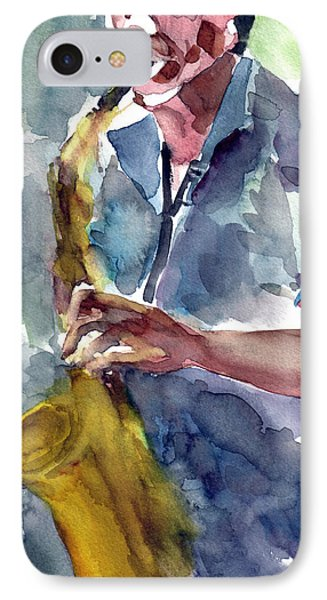Saxophonist IPhone Case by Faruk Koksal