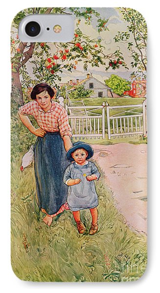 Say A Nice How Do You Do To Your Uncle IPhone Case by Carl Larsson