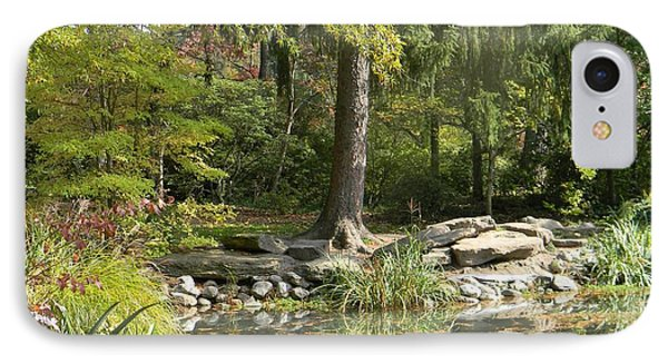 Sayen Gardens Pond IPhone Case by Nance Larson