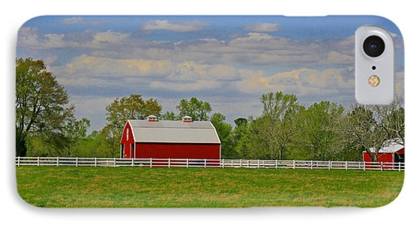 IPhone Case featuring the photograph Sc Horse Farm by Andy Lawless