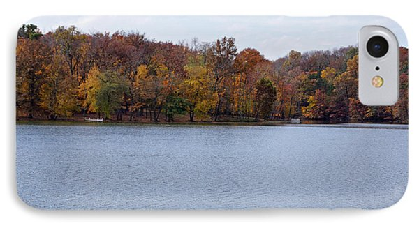 Scales Lake In Autumn IPhone Case by Sandy Keeton