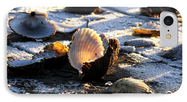 Half Shell On Ice Phone Case by Karen Wiles