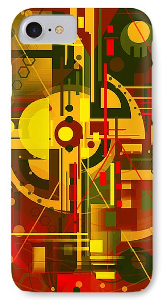Scape Of Futuristic City IPhone Case by Mikko Tyllinen