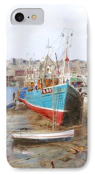 Scarborough Harbour IPhone Case by Ron Harpham