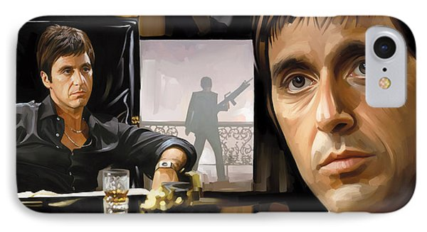 Scarface Artwork 1 IPhone Case by Sheraz A