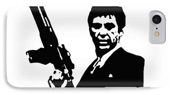 Scarface IPhone Case by Guido Prussia