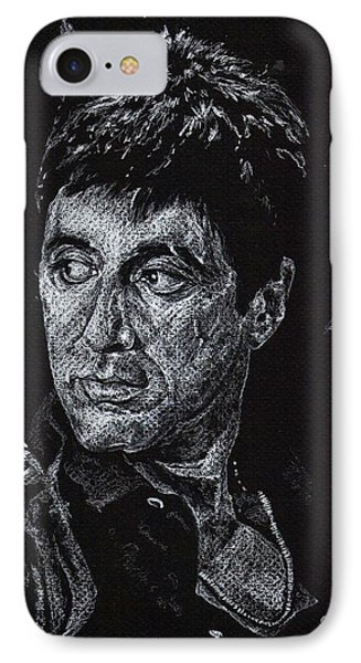 Scarface In White IPhone Case by Denise Thurston Newton
