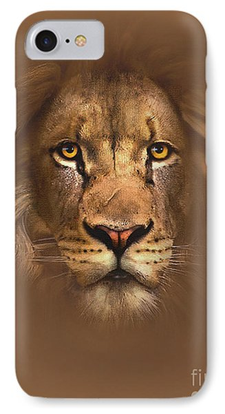 Lion iPhone 7 Case - Scarface Lion by Robert Foster