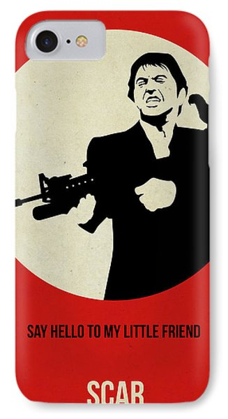 Scarface Poster IPhone Case by Naxart Studio