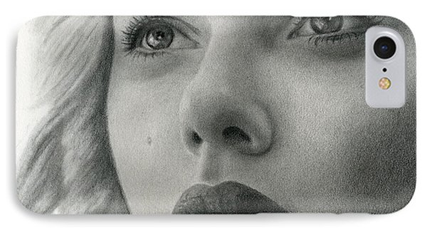 Scarlet Johansson IPhone Case by Erin Mathis