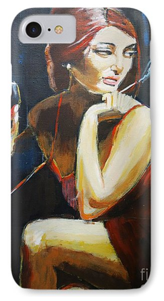 IPhone Case featuring the painting Scarlet by Judy Kay