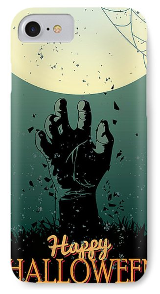 IPhone Case featuring the painting Scary Halloween by Gianfranco Weiss