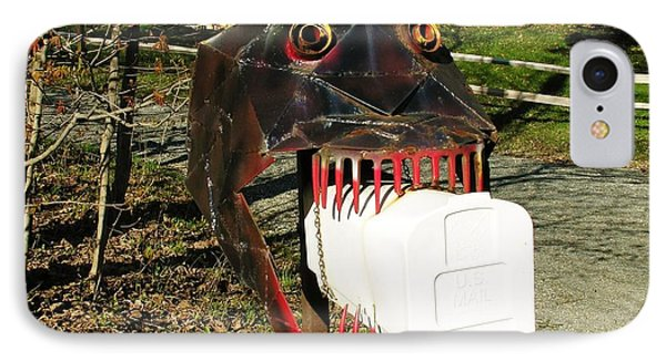 IPhone Case featuring the photograph Scary Mailbox 2 by Sherman Perry