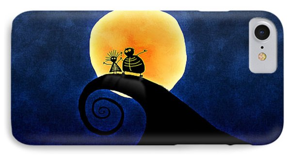 Scary Moonlight IPhone Case by Gianfranco Weiss