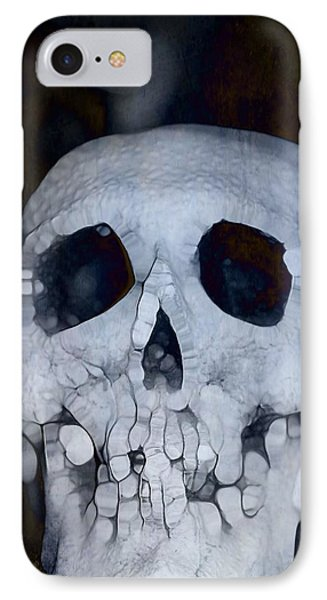 Scary Skull IPhone Case by Dan Sproul