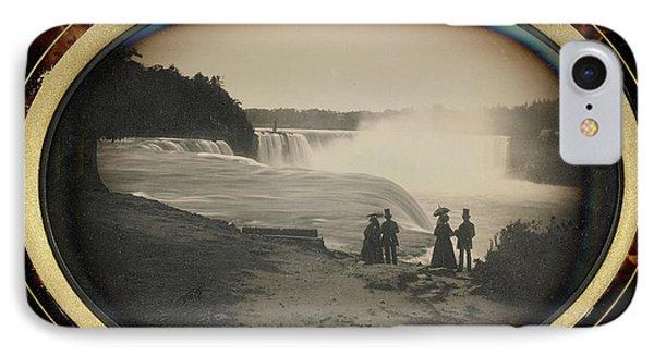 Scene At Niagara Falls Platt D. Babbitt IPhone Case by Litz Collection