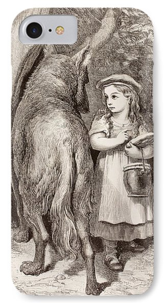Scene From Little Red Riding Hood IPhone Case