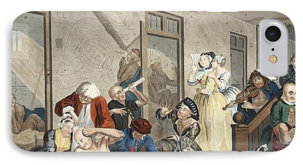 Scene In Bedlam, Plate Viii, From A IPhone Case by William Hogarth