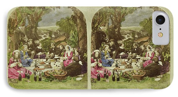 Scene In Garden Company During Picnic, Anonymous IPhone Case
