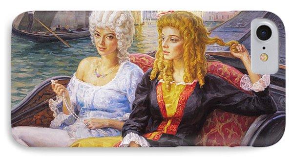 Scene In Gondola. Venice. IPhone Case