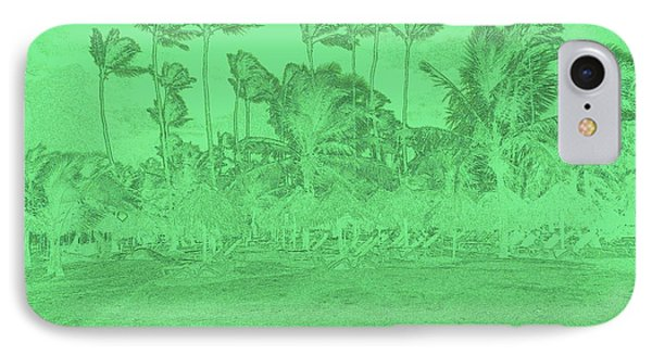Scene In Green IPhone Case by Mustafa Abdullah