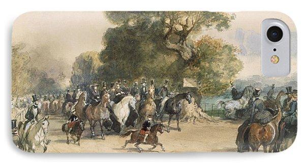 Scene In Hyde Park IPhone Case by Eugene-Louis Lami