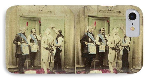 Scene In Interior Three Freemasons And Bound Man IPhone Case
