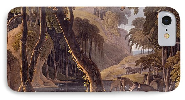 Scene In Sitsikamma - Elephants IPhone Case by Samuel Daniell