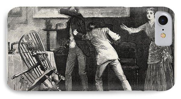 Scene, Interior, Engraving 1884, Life In Britain, Uk IPhone Case