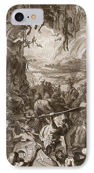 Scene Of Hell, 1731 IPhone Case by Bernard Picart