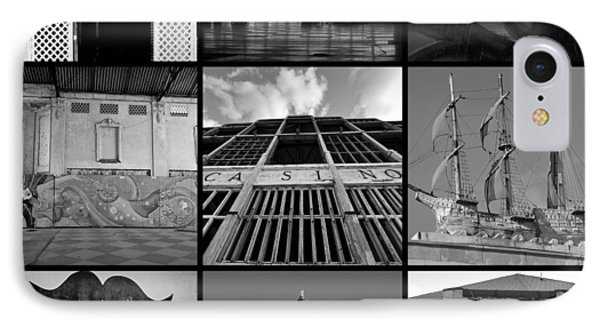 Scenes From Asbury Park New Jersey Collage Black And White IPhone Case by Terry DeLuco
