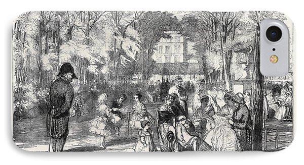 Scenes In Paris The Gardens Of The Tuileries IPhone Case