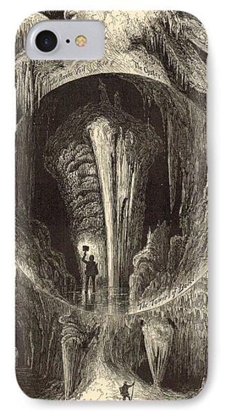 Scenes In Weyer's Cave Virginia 1872 Engraving Phone Case by Antique Engravings