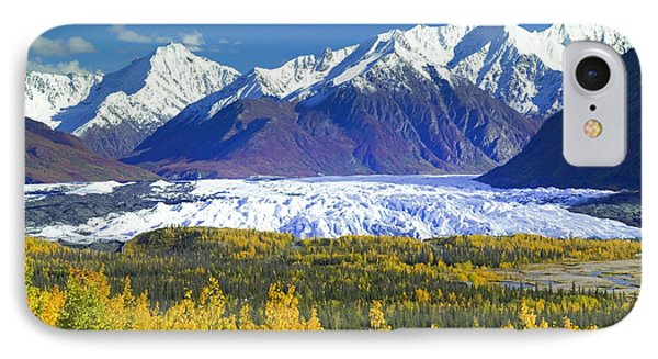 Scenic View Of Matanuska Glacier & IPhone Case by Michael DeYoung
