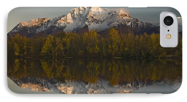 Scenic View Of Pioneer Peak Reflecting IPhone Case by Hal Gage