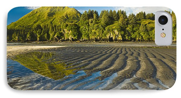 Scenic View Of Tidal Flats At Low Tide IPhone Case by Michael DeYoung