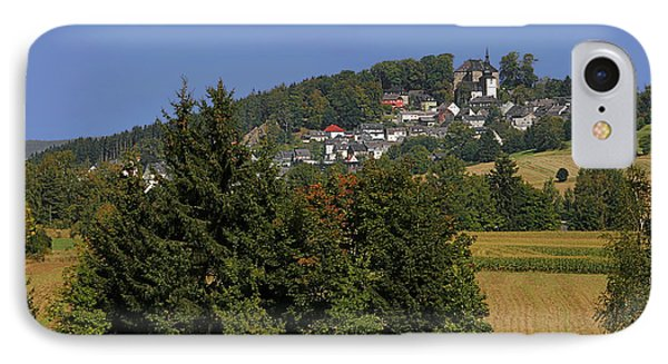 Schauenstein - A Typical Upper-franconian Town Phone Case by Christine Till