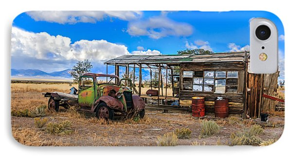 Schellbourne Station And Vintage Truck IPhone Case by Robert Bales