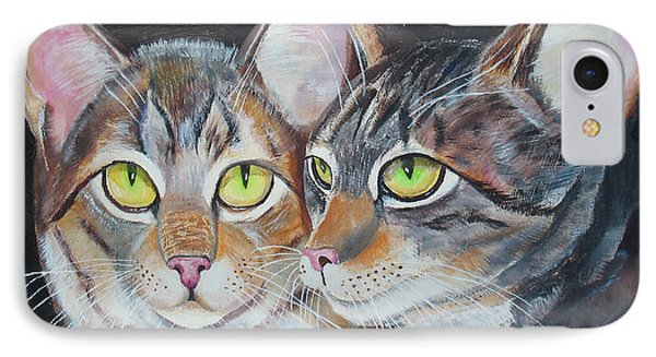 Scheming Cats IPhone Case by Thomas J Herring