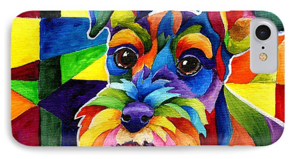 Schnauzer IPhone Case by Sherry Shipley