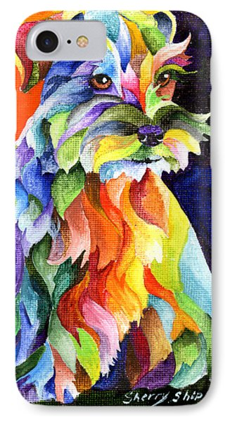 Schnauzer Too IPhone Case by Sherry Shipley